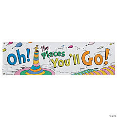 Dr. Seuss™ Oh the Places You'll Go Vinyl Banner