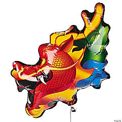 Dragon-Shaped Mylar Balloon