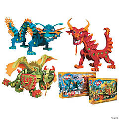 Dragons Set of 3: Aqua, Pyro and Combat