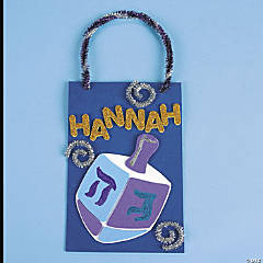 Dreidel Door Hanger Idea