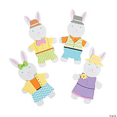 Dressed Up Bunnies Magnet Craft Kit