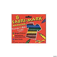Drimark Fabri-Mark Markers Primary