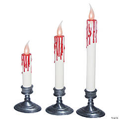 Dripping Blood White Candles Halloween Décor