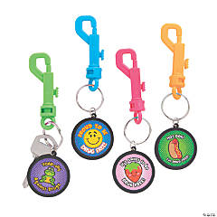 Drug Free Backpack Clip Keychains