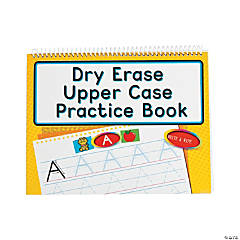 Dry Erase Uppercase Practice Books