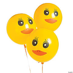 Duck Printed Latex Balloons