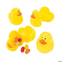 Duck-Shaped Plastic Easter Eggs