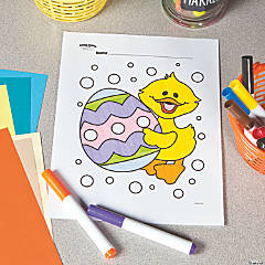 Duck with Easter Egg Free Printable Coloring Page