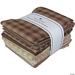 Dunroven House Fat Quarters 12Pcs-Brown & Natural