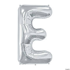 E Silver Letter Mylar Balloon