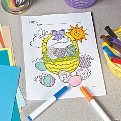 Easter Basket Free Printable Coloring Page