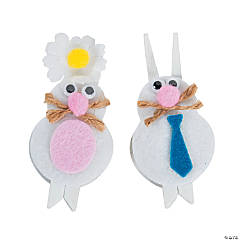 Easter Bunny Clothespin Craft Kit