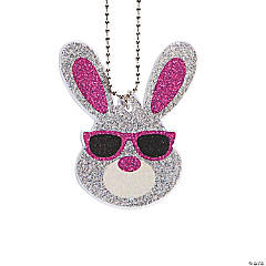 Easter Bunny Glitter Necklaces