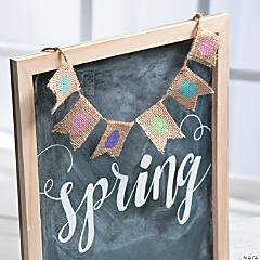 Easter Burlap Mini Pennant Banner Idea