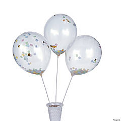 Easter Confetti Latex Balloons