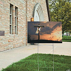 Easter Cross Scene Yard Sign