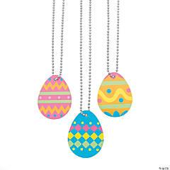 Easter Egg Dog Tag Necklaces