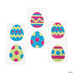 Easter Egg Glitter Tattoo Stickers