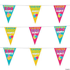 Easter Egg Hunt Plastic Pennant Banner