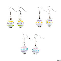 Easter Egg Lampwork Earrings Craft Kit