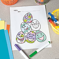 Easter Egg Pile Free Printable Coloring Page