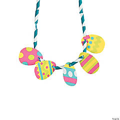 Easter Egg Straw Necklace Craft Kit