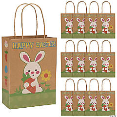 Easter gift bags on sale orientaltrading easter kraft paper gift bags negle Choice Image