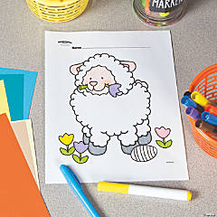 Easter Lamb Free Printable Coloring Page