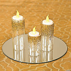 Easy Glitter Centerpiece Idea