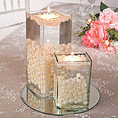 Easy Pearl Bead Centerpiece Idea