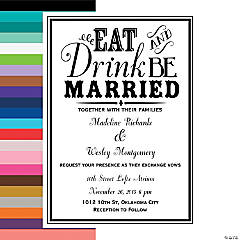 Eat, Drink & Be Married Personalized Wedding Invitations