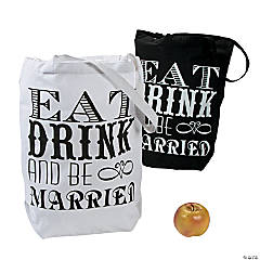 Eat, Drink & Be Married Tote Bags