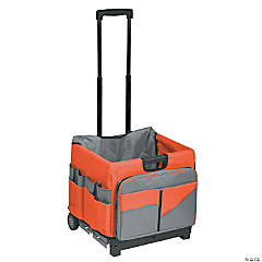 ECR4KIDS Universal Rolling Cart and Organizer Bag, Orange