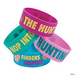 Egg Hunt Rubber Bracelets