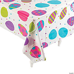 Egg Print Plastic Tablecloth