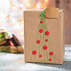 Elastic Christmas Tree Holiday Gift Packaging Idea