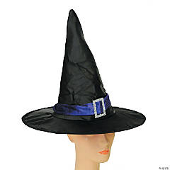 Elegant Black & Purple Witch Hat