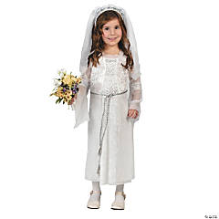 Elegant Bride Girl's Costume
