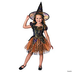 Elegant Witch Girl's Costume