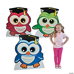 Elementary Grad Owl Cardboard Stand-Ups