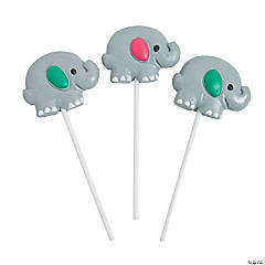 Elephant Character Lollipops