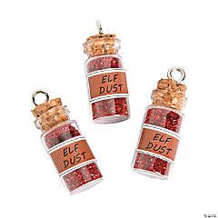 Elf Dust Bottle Charms with Cork Stopper