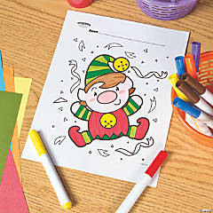 Elf Free Printable Coloring Page