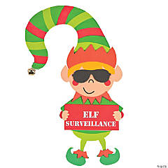 Elf Surveillance Doorknob Hanger Craft Kit