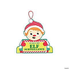 Elf Surveillance Sign Craft Kit