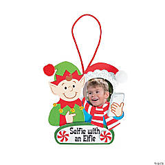 Elfie Selfie Photo Ornament Craft Kit