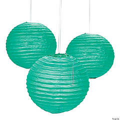 Emerald Green Hanging Paper Lanterns