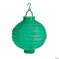 Emerald Green Light-Up Hanging Paper Lanterns