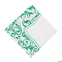 Emerald Swirl Luncheon Napkins