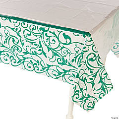 Emerald Swirl Tablecloth